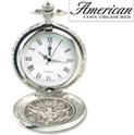 Silver Barber Half Dollar Pocket Watch - 79.99
