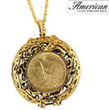 Mustard Seed Locket Angel Coin Pendant - 39.99