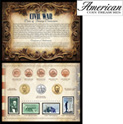 Civil War Coin Stamp Collection - 29.99
