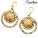 Angel Coin Crystal Chandelier Earrings - 29.99