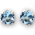 Blue Topaz Stud Earrings - 39.99