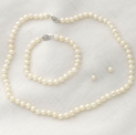 Sterling Silver Pearl Earrings/Bracelet/Necklace - 89.99