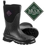 Muck Women's Black Chore Mid Boots
