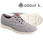 Abbot K Men's Grey Park Slope Lace Up Shoes