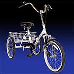 Silver Folding Adult 3 Wheel Trike