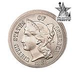The Mathew Mint Three Cent Nickel 1860