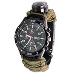 Tactical 9756 Survival Watch with Fire Starter and Compass