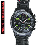 Pro-4 Black Tactical Survival Watch
