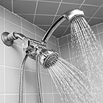 Silver Shower Head & Massager with 59 Inch Hose