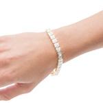 14K Gold Diamond Tennis Bracelet - 7 Inch