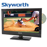 Skyworth LED HDTV with On-Board DVD Player - 22 inch