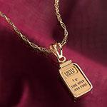 American Coin Treasures 1-Gram Gold Necklace