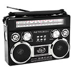 Dolphin SP-411BT Retrobox Portable AM/FM/SW Radio