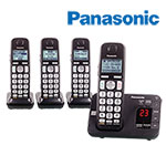 Panasonic KX-TGE434B Big Button Cordless Phones