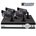 KGuard 4 Channel Security System with 4 Cameras