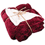 Northpoint Trading Red Sherpa Snowflake Blanket