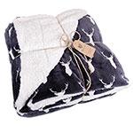 Northpoint Deer Print Berber Blanket