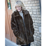 Womens Faux Mink Coat