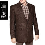 Domini Men's Brown Western Microsuede Blazer