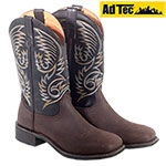 Ad Tec Mens Dark Brown Western Boots