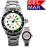 Men's 200M SuperGlo Nautical Dial SS Band