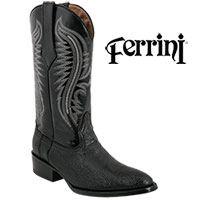 Men's Black Ferrini Lizard Boots