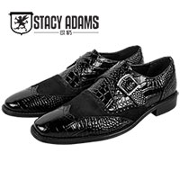 Stacy Adams Men's Black Arrico Wingtips