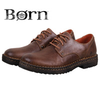 Born Men's Brown Samson Leather Lace-Up Shoes