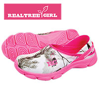 Realtree Girl Women's Pink Slip-Ons