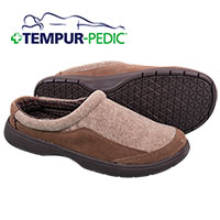 Tempur-Pedic Men's Tan Slippers