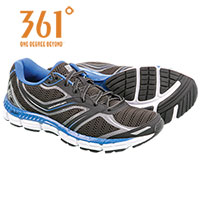 361 Degrees Men's Black Violation Running Shoes