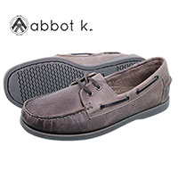 Abbot K Men's Grey Boardwalk Boat Shoes