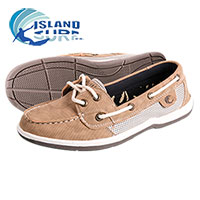 Island Surf Women's Parchment Sanibel Boat Shoes