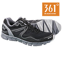 361 Degree Men's Breeze Black Running Shoes
