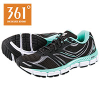 361 Degrees Women's Black Volitation Running Shoes