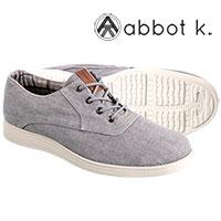 Abbot K Men's Grey Park Slope Lace Up Shoes