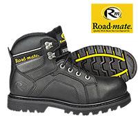 Roadmate Men's Black Gravel Work Boots