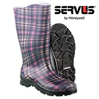 Servus Women's Plaid Electra Rain Boots