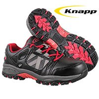 Knapp Men's Black Athletic Work Shoes