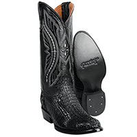 Ferrini Men's Black Caiman Crocodile Boots