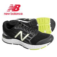 New Balance Men's Black & Lime Running Shoes