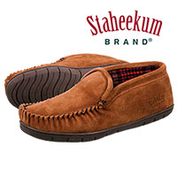 Staheekum Men's Suede Wheat Trapper Slippers