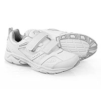Fila Men's White Capture 2-Strap Memory Foam Shoes