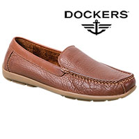 Dockers Men's Brown Leather Kaufman Slip-On Shoes