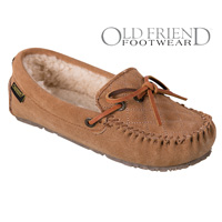 Old Friend Footwear Women's Tan Mo Slippers