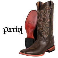Ferrini Men's Chocolate French Calf Boots