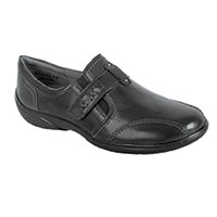 Walking Cradle Women's Black Slip On Shoes