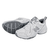 New Balance Women's White All Leather Running Shoes