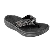 New Balance Women's Black Revive Sport Flip Flops
