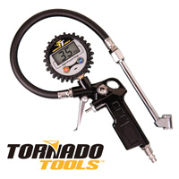 Tornado Tools Digital Tire Gauge with LCD Display